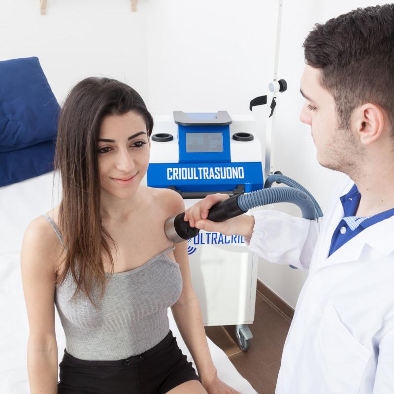 Fisioterapia con Crioultrasuono